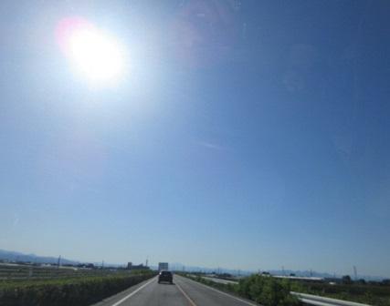 陽射しが暑い…。