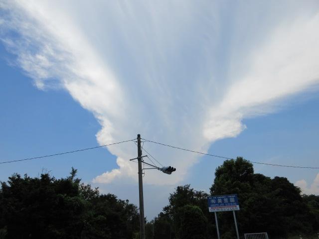沸き上がる雲